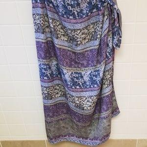 Dana Buchman Floral Print Maxi Skirt